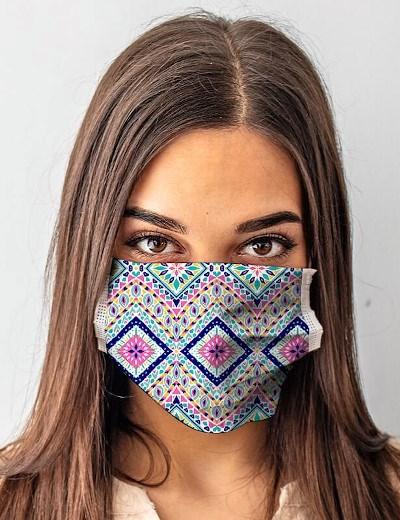 Máscaras Reutilizáveis: Modelo Tribal