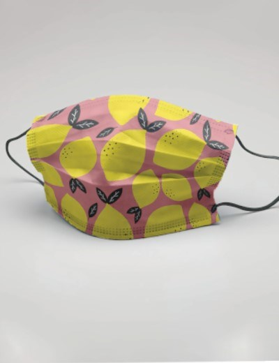 Máscaras Reutilizáveis - modelo Lemon