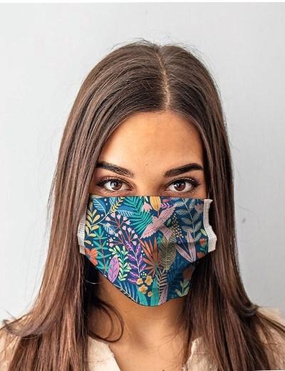 Máscaras Reutilizáveis - modelo Urban Garden