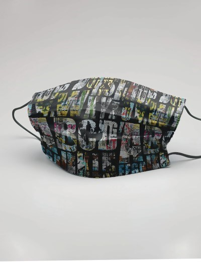 Máscaras Reutllizáveis - modelo City Letters