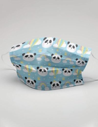 Máscaras Reutilizáveis - Modelo Panda