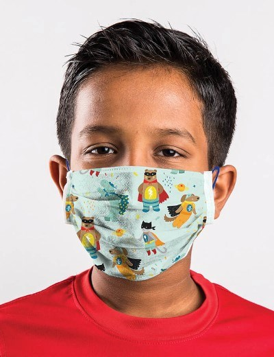 Máscaras Reutilizáveis - Modelo - Mini Heroes