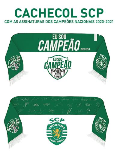 Cachecol Sporting - Eu Sou Campeão 2020/2021