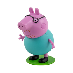 O Papá Porquinho faz uma viagem em que todos aprendem as cores - Vol. 3 + oferta boneco Papá Porquinho